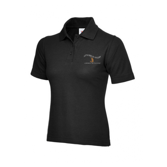 Black Ladies Polo Shirt - LBA (1)
