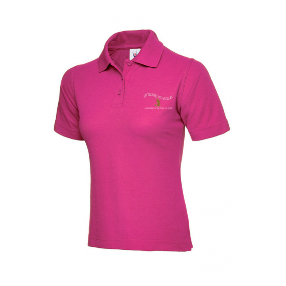 Hot Pink Ladies Polo Shirt - LBA (1)